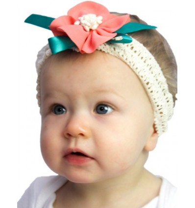 Luxury Stretch Crochet Peony Flower Headband