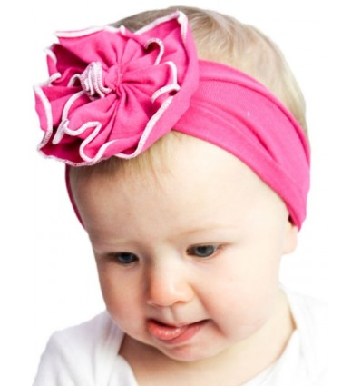 Luxury Cotton Flower Hot Pink Baby Hat