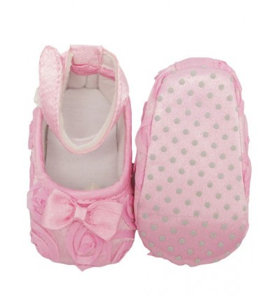 Luxury Pink Bow Baby Party Shoes