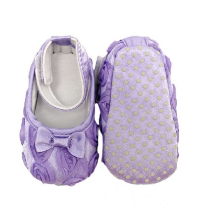 Luxury Lilac Bow Baby Party Shoes