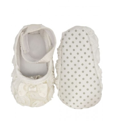 Luxury Ivory Bow Baby Party Shoes