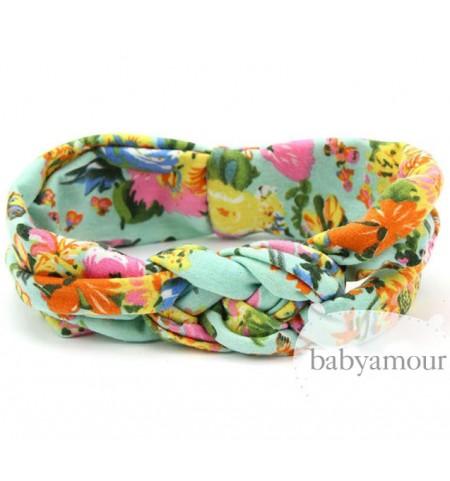 Luxury Floral Turban Headwrap Model 2