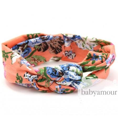 Luxury Floral Turban Headwrap Model 4