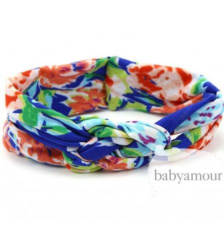 Luxury Floral Turban Headwrap Model 7