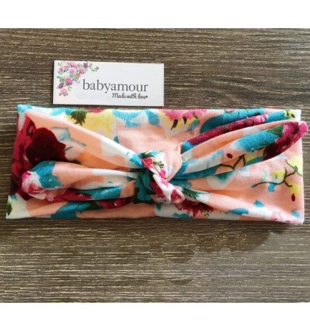 Luxury Floral Baby Headwrap - Cottage Chic