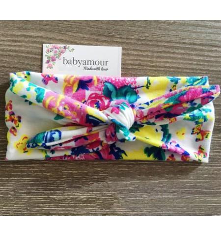 Luxury Floral Retro Baby Headwrap - Bloom
