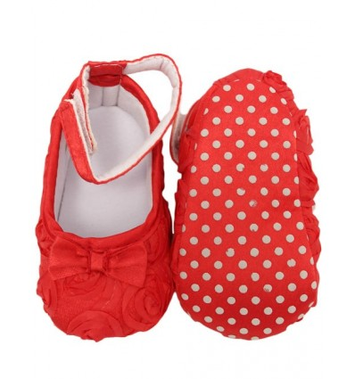 Luxury Red Bow Baby Party Shoes