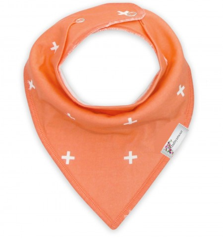 Funky Bandana Dribble Bib - Coral Orange