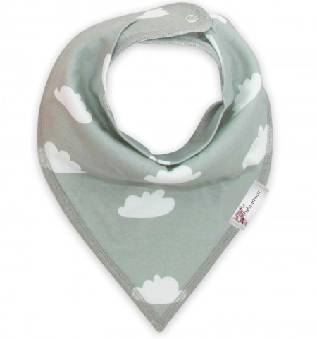 Funky Bandana Dribble Bib - Cloud