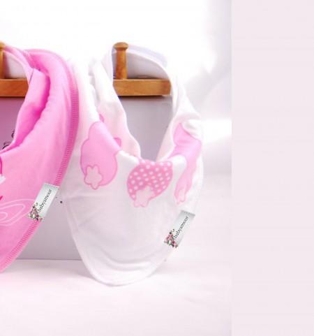 Funky Bandana Dribble Bib - Three Pink Rabbits