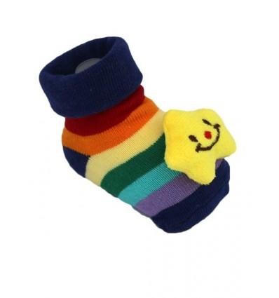 Stripe Star Non-Slip Baby Slipper Socks