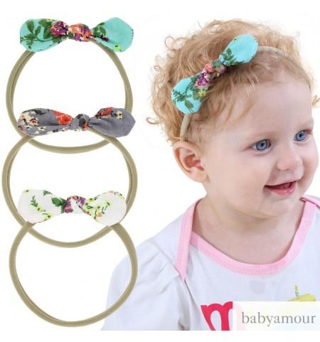 Lovely Floral Mini Bow Baby Headband
