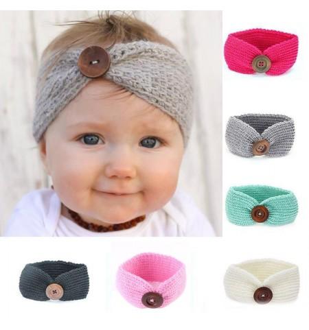 Luxury Handmade Button Baby Headwrap
