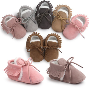 Image of a selection of comfy baby slippers available in many sizes